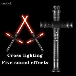 PQBD Lightsaber Temel Uygulama Lightsaber Dueling Blade Metal Kolu Flaş Sesli Çatışma, Çocuk Oyuncak Q0113