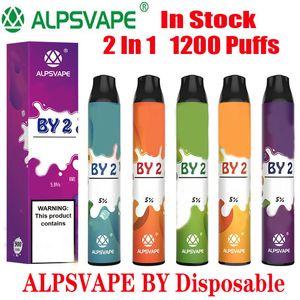 Оригинальный комплект устройства Alpsvape BY2 Одноразовые 6ml Бобы 2 в 1 1200 слойки 900mAh Аккумулятор BY 2 Vape Стик Ezzy Супер Kangvape Онее 100% Authentic
