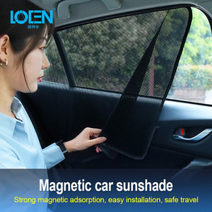 Summer Single Layer Thickened Encryption Mesh Magnetic Car Curtain Magnetic Suction Car Sunshade Safe Travel Ventilation 87AD#