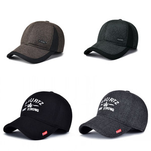 Kış kalınlaşma beyzbol şapkası siyah gri erkekler açık havada sıcak tutmak caps moda snapback şapka yeni desen 7 5mm j2