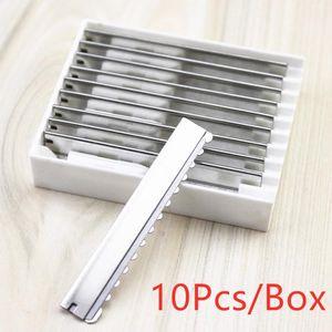 Rasiermesser Ersatzköpfe Sicher Sägezahn Salon Blades Typ Heim Werkzeug Friseur Gesicht Haare entfernen Rasieren Schneiden Styling