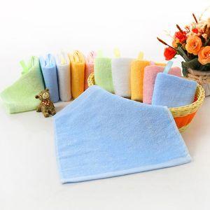 Kindergarten cara toalla cuadrada limpiando manos liso bambú fibra pequeña kindergarten limpiar cara toallas de mano 25 * 25cm gwe2044