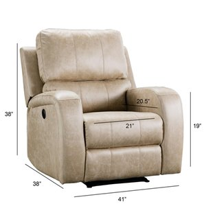 US STOCK Electric Recliner Chair Reclining Single Sofa Air Suede Electric Faux Suede Leather Recliner Chair with USB Charge Port W50123356