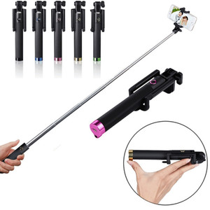 Bluetooth Selfie Stick Foldable Handheld Felxible Remote Control Extendable Mini Cable Take Pole Foldable all-in-one Monopod for Smartphones