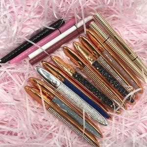 Großhandelspreis Glitzer Flüssigkeit Eyeliner Privater Label Schwarz Braun Farbe Eyeliner starker selbstklebender Eyeliner Bleistift Wasserdicht