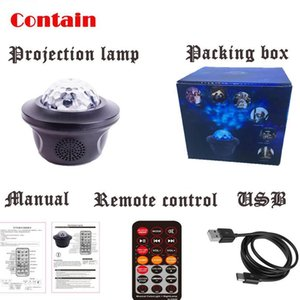 1 PCS USB LED Bluetooth Music Starlight Starlight Projecteur Galaxy Watermark Butterfly Starry Night Lamp Star Sky Projecti JLLCMH