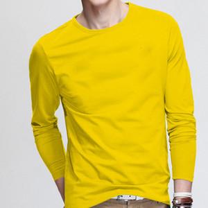 Mens de algodão de manga longa camiseta Causal Sports Outwear novo T-shirt legal para o homem tshirt ocasional do outono da tripulação do outono camiseta