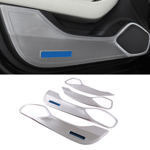 For Cadillac CT5 2019-2021 Car Accessory Stainless Steel Inner Door Anti-kick Pad Cover Trim Frame Interior Decoration Molding