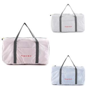 TINYAT Women Travel Bag Waterproof Weekender Bags Oxford Cloth Luggages Handbag Shoulder Bag Dry And Wet Pfbit