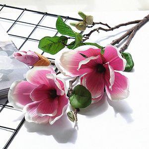 magnolia artificiale imperatore albergo casa decorazioni floreali centro commerciale fotografia di matrimonio prop decorazione falsificazione fiore BJnr #