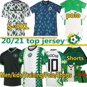 Nigeria soccer jersey 2020 Nigelia Jersey de football 20 21 Maillot de pied Okechukwu Ighalo Okocha Ahmed Musa Ndidi Mikel Iheanacho Hommes Kit Kit de football Kit de football 4XL