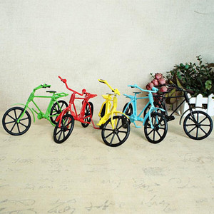 SM Fer Métal coloré Modèle Vélo Vintage Toy, style rétro main Ornement, collecte, Cadeau d'anniversaire Kid Noël, décoration SMT007, 2-2