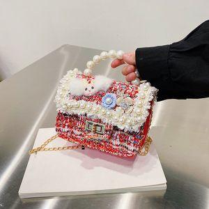 2021 new luxury design kids bag princess toddler kraft small backpack cute mini coin handbag girl messenger bag free shipping