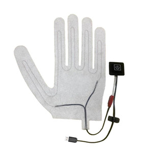 New 1pc 5-Finger USB electric glove electric pad lithium battery battery power supply 3-speed thermostat switch heater