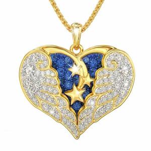 NOUVEAU aile d'ange Pendentif Collier femme Collier avec pendentif coeur bijoux collier en alliage partie cadeau T500322