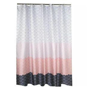 Moderna cortina de ducha geométrica tela de poliéster impermeable cortina de baño para baño decorar con ganchos de plástico DHB4872