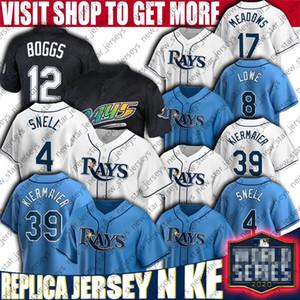 Kevin Kiermaier Jersey Austin Meadows Wade Boggs Jerseys Tampa Bay Rays personalizados Baseball Ji-Man Choi Brandon Lowe Blake Snell Mike Jersey