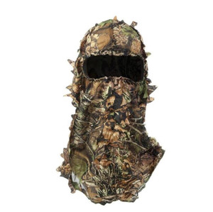 Camouflage Hat DIY Decorate Ghillie Suit Outdoor CS Paintball Jungle Combat Tactical Face Mask Gloves
