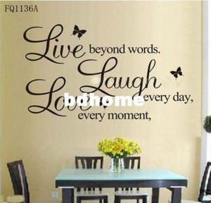 B винила жить каждый момент, Смейтесь каждый день, Любовь Beyond WordsWall Quote x5IL #
