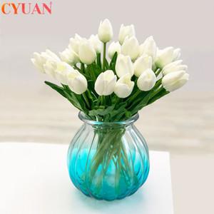 10pcs Laleler Yapay Çiçek Gerçek Dokunmatik Tulipe Çiçekler Sahte Çiçekler Düğün Dekorasyon Çiçekler Noel Ev Bahçe Dekor C1005