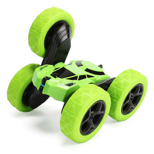 side tumble bucket twist Stunt Double RC climbing charging light children's remote control Car