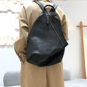 여성 Bagpack 리얼 가죽 여행 Daypacks Mochilas 201012 도난 방지 배낭 여성 천연 소 가죽 클래식 학교 가방