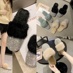 lu32f Womens Shining home cotton Sandal Slippers eather Ladies designer high quality flops flip Embroidery slipper Summer