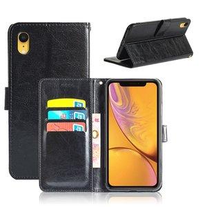 Retro Luxury Crazy Horse For iPhone 12 Mini 11 ProMax XS XR X SE 8 7 6 6s Plus PU Leather Wallet Case
