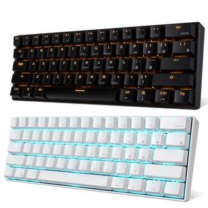 RK61 لوحة مفاتيح بلوتوث السلكية ذات الوضع المزدوج 60٪ الذهبي / الجليد الأزرق الخلفية 61 مفتاح لوحة مفاتيح الألعاب الميكانيكية المحمولة Q1224