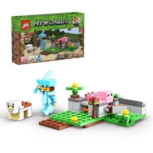 Nouveau Style Mini Mini World City Building Blocks Puzzles De haute qualité Petite particule Kid-jouet cadeau de jouet garçon et fille