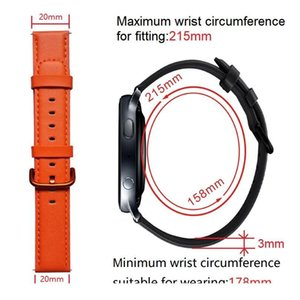 20mm Genuine Leather Watchband For Samsung Galaxy Watch Active 2 42mm Smart Watch Strap For Amazfit Bip Gtr Gts St jlljgD