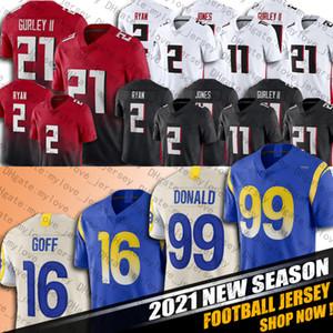 99 Aaron Donald 16 Jared Goff Jersey 2 Matt Ryan Jersey 21 Todd Gurley II Jerseys 11 Julio Jones Jersey Football Jerseys