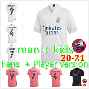 2021 real madrid jerseys Fans Player 2020 hazard isco VINICIUS soccer sergio ramos modric bale 20 21 football shirt men kids kit camisetas