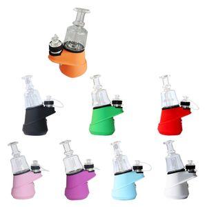 SOC Wax Vaporizer Dab Rig Concentrate Shatter Dry Herb Atomizer Dabber Rig E Cigarettes 2600mAh Battery Quartz Bowl 4 Tem Settings