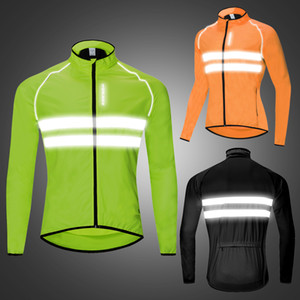 WOSAWE Reflective Windproof Cycling Clothes Men Waterproof MTB Bicycles High Visibility Rain Resistance Sports Coat Bike Jackets