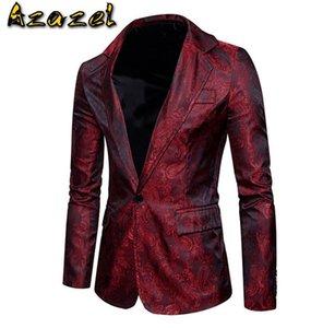 Азазель Hot Spring 2020 лето новый стиль для мужчин вскользь кешью Blazer костюм мужские корейской моды печати пальто мужской куртки S-2XL
