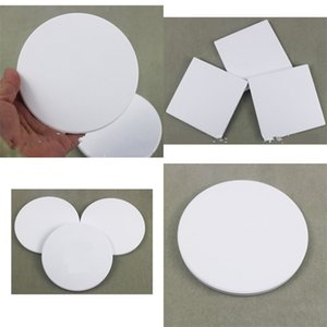 Ceramics Coaster White Cup Mat Sublimation Blank Circular Ellipse Square Water Uptake Free Shipping Office 1 2tt F2