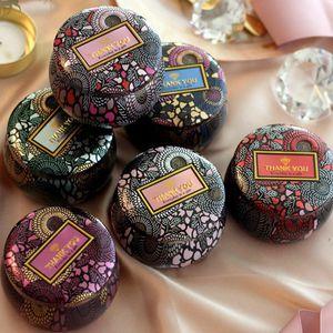 La flor del té Caso Sostenedor de vela de la boda del metal multicolor originalidad caja del caramelo regalos de la ceremonia Cajas de almacenamiento CYZ2856 200Pcs