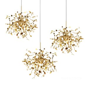 Italy Terzani Argent Chandelier Luxury Stainless Steel Gold LED Living Room Hotel Project Art Deco Bedroom Lighting