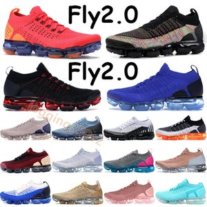 Fly 2.0 Mens Running Shoes Zapatillas Año Nuevo Chino Orbit Rojo Mango Negro Multi Color Racer Blue Rose Gold Tiger Light Cream ORCA Sneakers