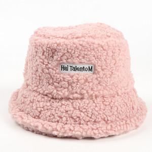 Рыбак Beanie Hat женская осень и зима шляпа новая теплая буква маркировка бассейна досуг все-матча ведро дизайнеры шапки шляпы меня