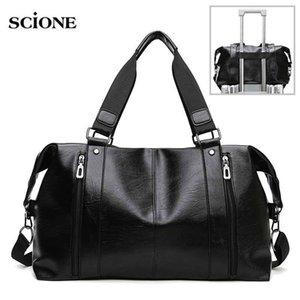 PU Leather Gym Bag Sports Bags Handbags For Fitness Men Women Training Shoulder Shoes Traveling Sac De Sport Gymtas Bag XA671+WA 201023