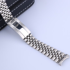 20mm 21mm Luxury 316L stainless steel Solid Curved End Screw Links Strap Bracelet Jubilee with Oyster Clasp For Master II DateJust 36m 41mm