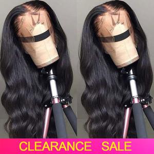 CHEAP HD Transparente Lace frontal Perucas 180 Densidade ondulado onda do corpo peruca dianteira do laço T PARTE parte dianteira do laço do cabelo humano Perucas peruca brasileira