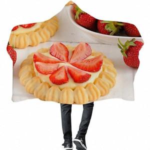 Изысканный торт с капюшоном Одеяло для женщин и детей Рождественский подарок Macarons десерт двойной толстый теплый плюша одеяло диван кровать Jl9w #
