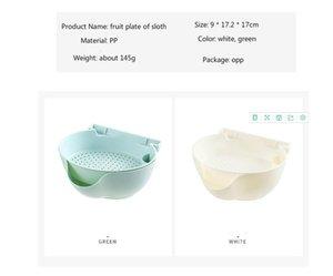 Living room fruit plate double layer fruit basin household multi-functional plastic fruit basket
