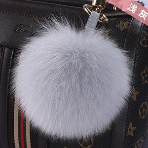 كبير الحجم 15cm ومنفوش فراء ثعلب حقيقي الكرة بوم بوم سلاسل بنات حقيبة فوكس الفراء الطبيعي بوم بوم سلسلة المفاتيح أزياء المرأة المفتاح الدائري wmtNRT qpseller