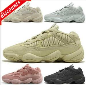 TOP soft vision stone desert rat 500 kanye west running shoes bone white utility black salt super moon yellow men women designer sneakers