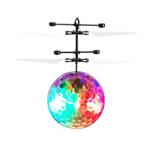 Mini Flying RC Drone Helicopter Infrared Induction LED Remote Ball Mini Aircraft Toys for Kids Teenagers Children Christmas