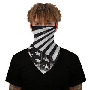 Печать Digital Outdoor Triangle Американского флаг Полотенце Спорт AUny8 Защита Triangle езда Маска для загара Открытого Уха висячего Спорт Полотенце Aqef